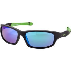 UVEX Sportstyle 507 Glasses Kids black mat green/green